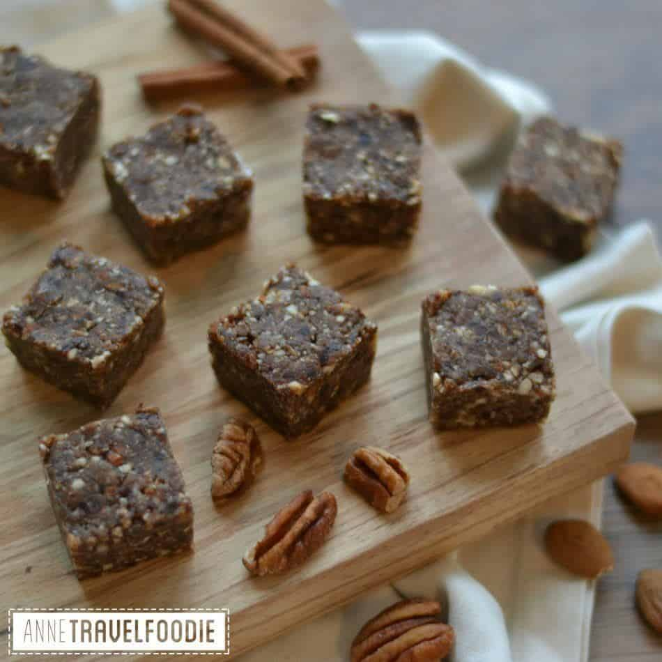 Raw Vegan Pumpkin Spice bars