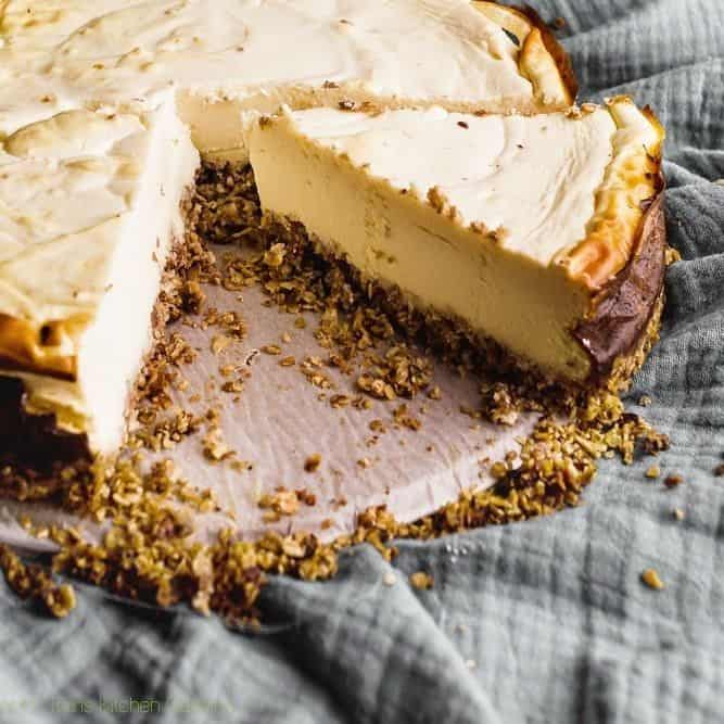 Healthy vanille cheesecake met