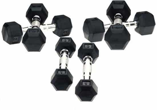 Hexa Dumbbells Focus Fitness - Set 2x 14 kg